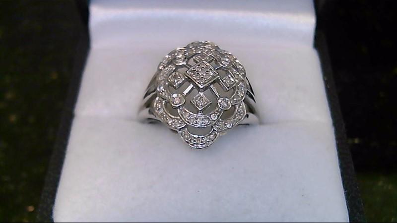 Lady's Diamond Fashion Ring 68 Diamonds .68 Carat T.W. 14K White Gold 4.8g