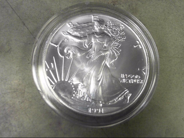 UNITED STATES Silver Coin 1991 AMERICAN EAGLE DOLLAR