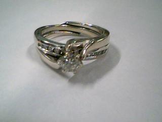 Lady's Diamond Engagement Ring 11 Diamonds .40 Carat T.W. 14K White Gold 6.2g