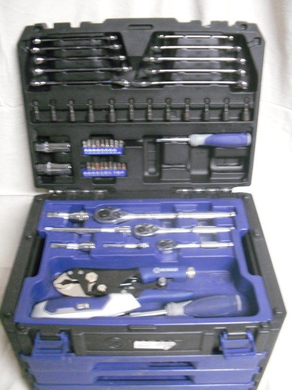KOBALT TOOLS Sockets/Ratchet 227 PC STANDARD/METRIC MECHANICS TOOL SET