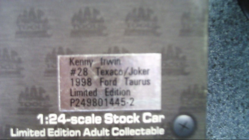 ACTION RACING COLLECTABLES Toy Vehicle #28 kenny irwin