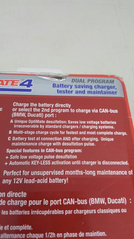 OPTIMATE 4 DUAL PROGRAM BATTERY CHARGER DIAGNOSTIC