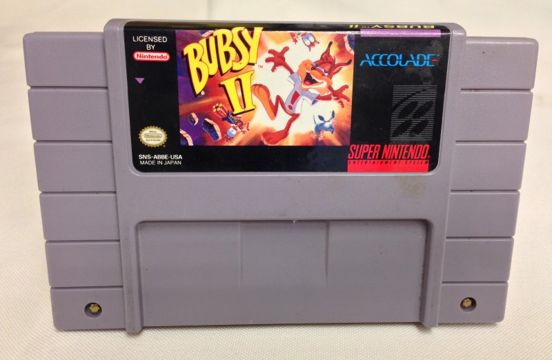 SUPER NINTENDO SNES GAME BUBSY II * Includes Manual *