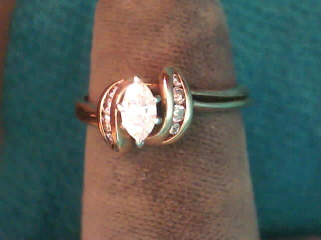 Lady's Diamond Wedding Set 11 Diamonds .19 Carat T.W. 14K Yellow Gold 1.6dwt