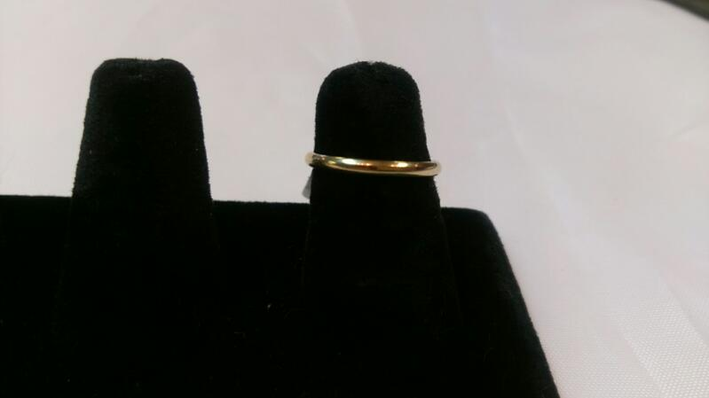 Lady's Band Ring 14K Yellow Gold 1.4g Sz 6