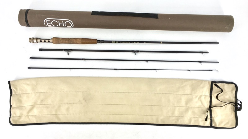 "ECHO CARBON 590-4 9'0"" #5 LINE 06-11 FLY FISHING POLE"