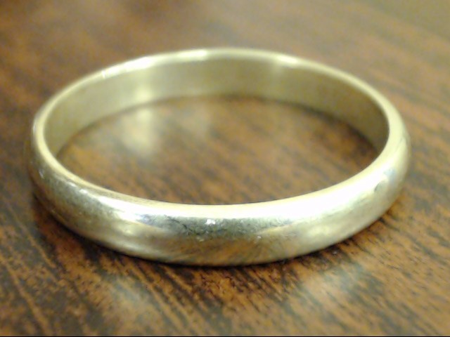 VINTAGE CLASSIC PLAIN WED RING BAND SOLID REAL 14K GOLD 3MM SZ 9.25