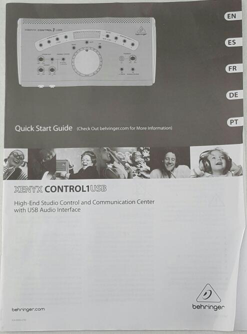 BEHRINGER XENYX CONTROL 1 USB Studio Control & Communication Center