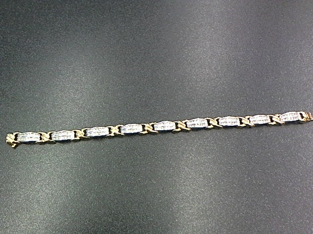 Gold-Diamond Bracelet 126 Diamonds 1.26 Carat T.W. 14K Yellow Gold 16.2g