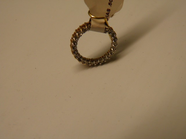 Gold-Multi-Diamond Pendant 25 Diamonds .50 Carat T.W. 10K Yellow Gold 1.4g
