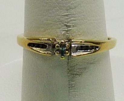 Lady's Diamond Engagement Ring 9 Diamonds .09 Carat T.W. 10K Yellow Gold