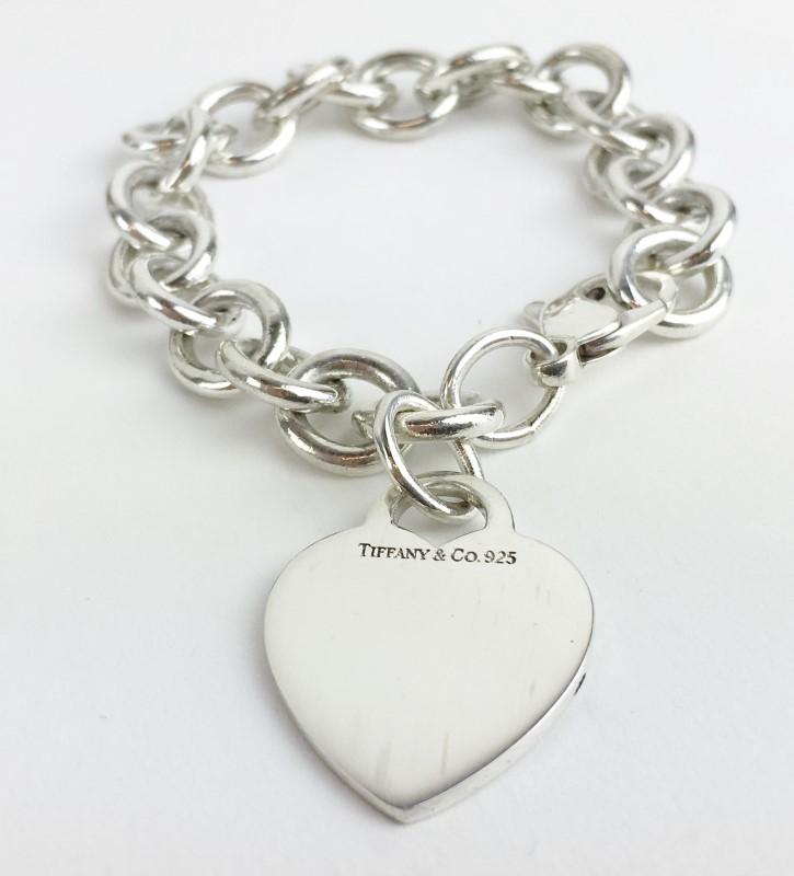 Tiffany & Co. Heart Bracelet 925 Silver 30.69g