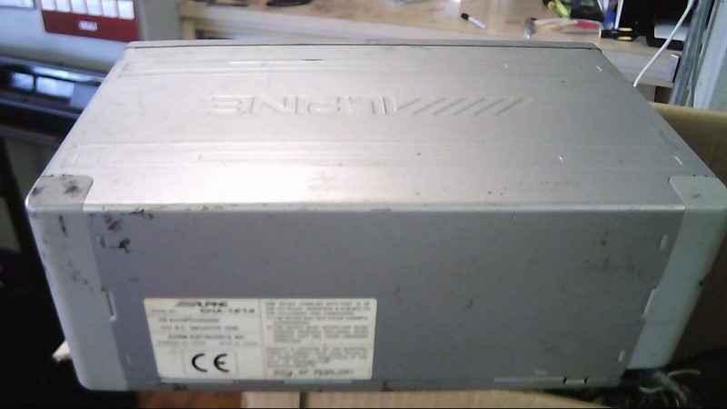 ALPINE Car Audio CVA-1000 with head unit, 12 cd changer, and amp