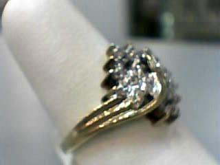 Lady's Diamond Cluster Ring 30 Diamonds .150 Carat T.W. 10K Yellow Gold 2.5dwt