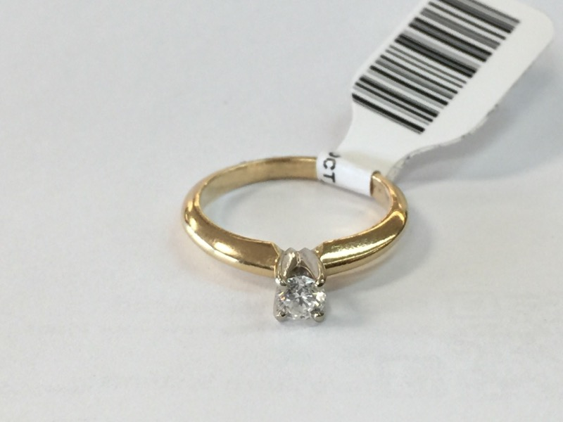 .20CT_ROUND_SOLITAIRE Lady's Diamond Solitaire Ring ENGAGEMENT_RING .20 CT.