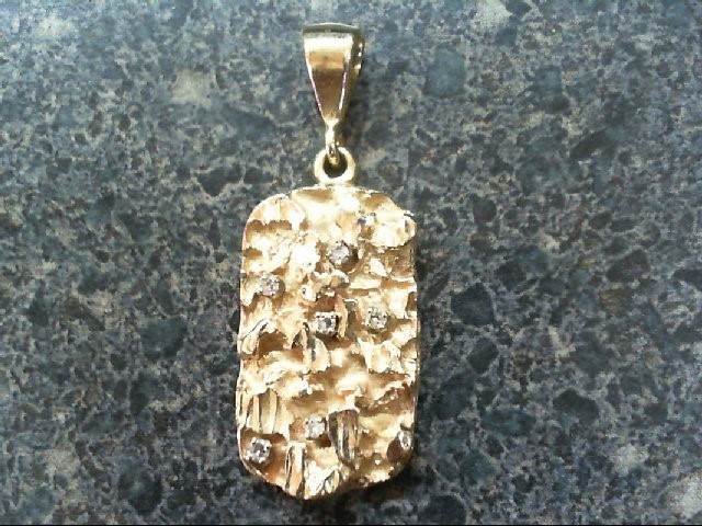 Gold-Multi-Diamond Pendant 6 Diamonds .06 Carat T.W. 14K Yellow Gold 6.1g