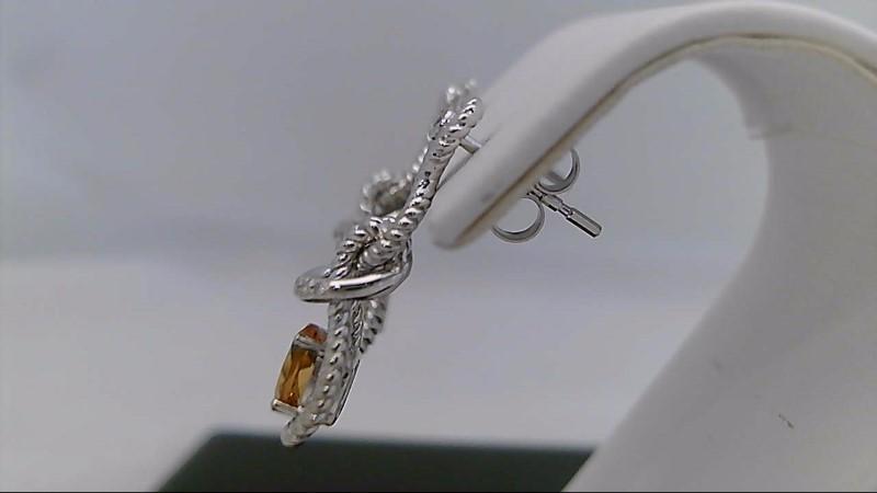 white gold citrine and diamond earrings