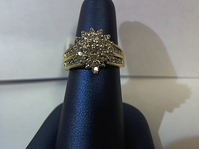 Lady's Diamond Fashion Ring 38 Diamonds .92 Carat T.W. 10K Yellow Gold 4.9g