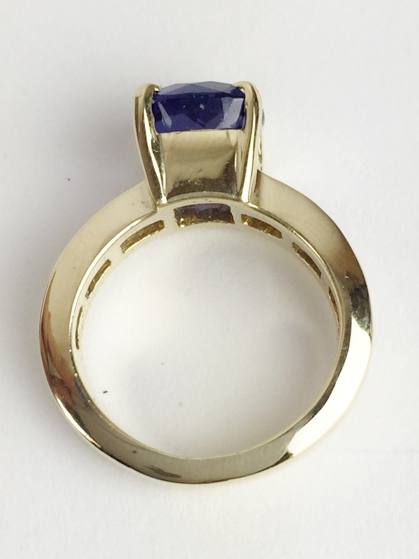 LADIES 14K TANZANITE & DIAMOND RING .56CTW