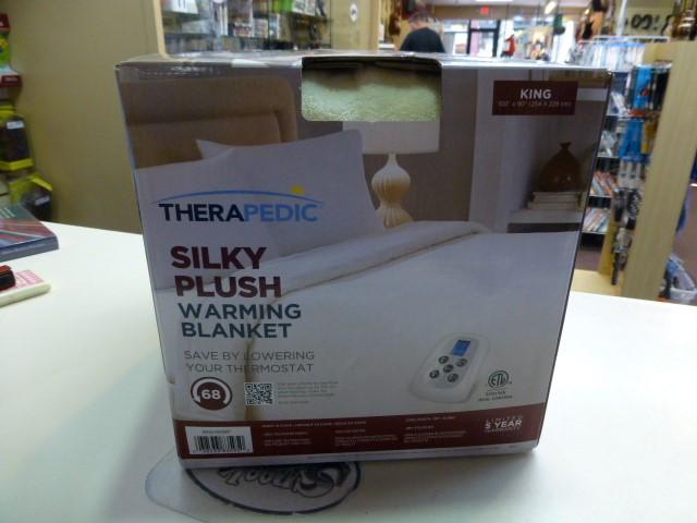 Therapedic Ivory Silky Plush Warming Blanket *King*