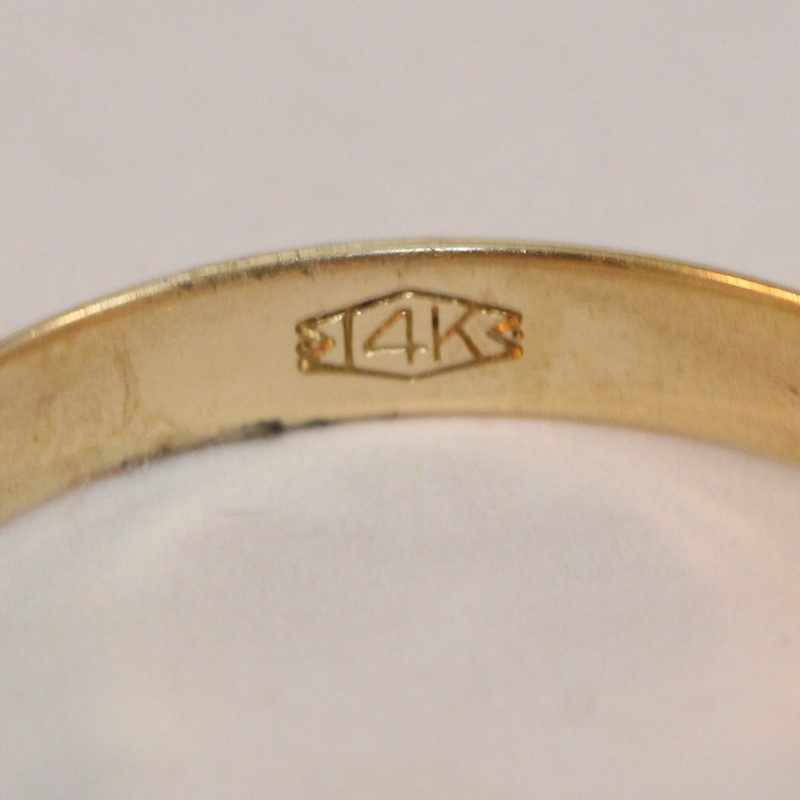 Gent's Gold Wedding Band 14K Yellow Gold Size 10