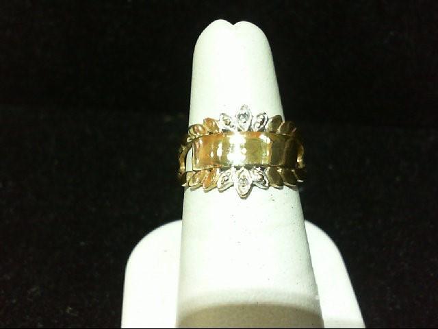 Lady's Diamond Fashion Ring 2 Diamonds .02 Carat T.W. 10K Yellow Gold 2.8g