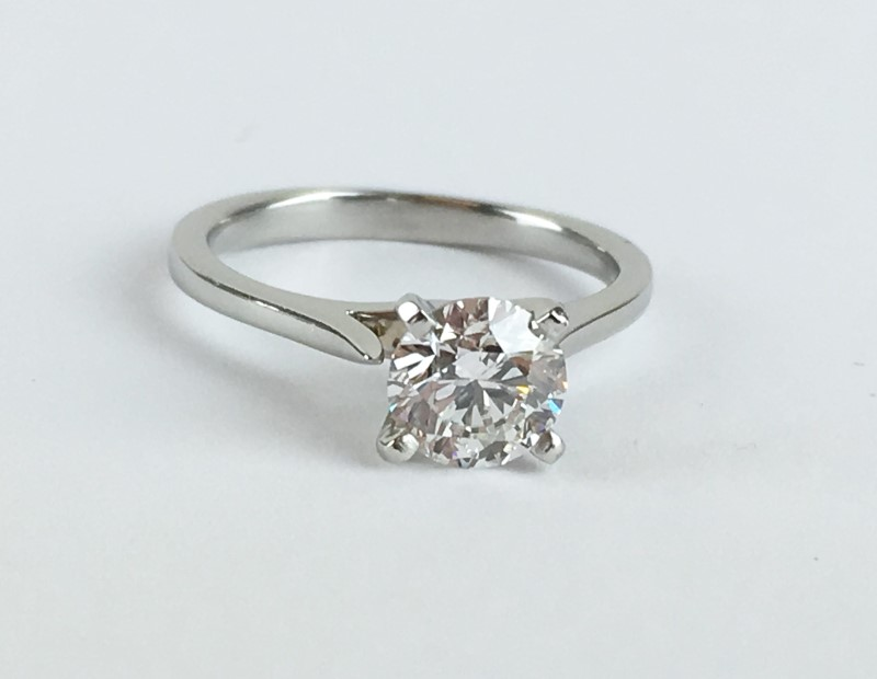 GIA Diamond Solitaire .80 CT. 950 Platinum 3.02g Size:3.5 VVS1 G Certified