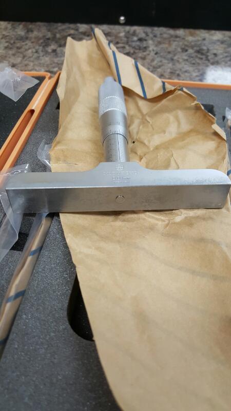 Mitutoyo 129-116 Depth Micrometer (0-150mm) DMC 100-150
