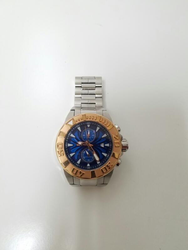 Men's Invicta Pro Diver 12305 St. Steel Blue Face Chrono Watch