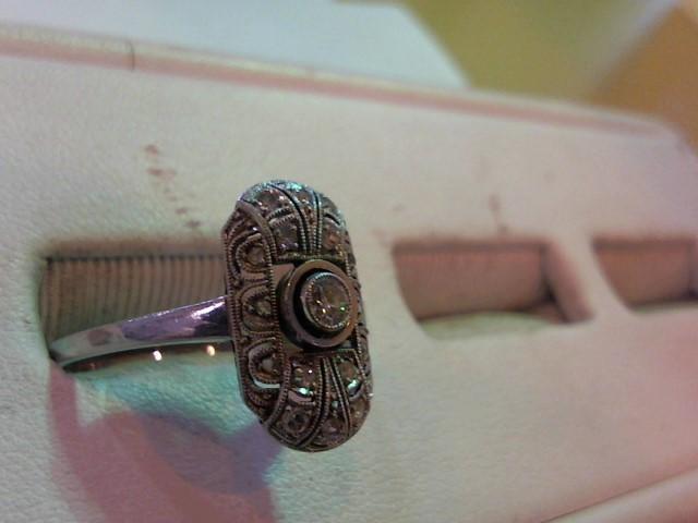 Lady's Platinum Diamond Fashion 17 Diamonds .21 Carat T.W. 950 Platinum 4.4g