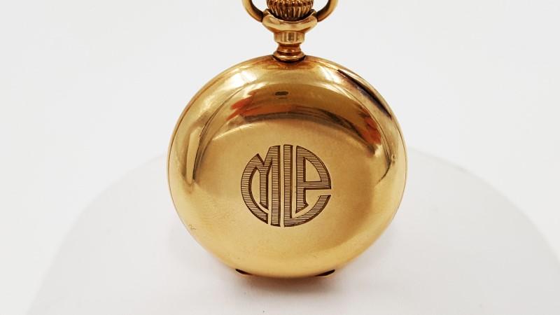 American Waltham 14K Yellow Gold Wind Up Vintage Pocket Watch