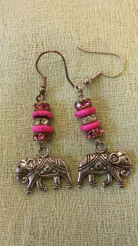 EARRINGS STONE/METAL