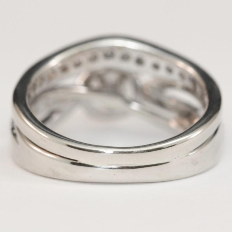 Vintage Inspired 10K W/G Round Brilliant Diamond Ring Size 4.5