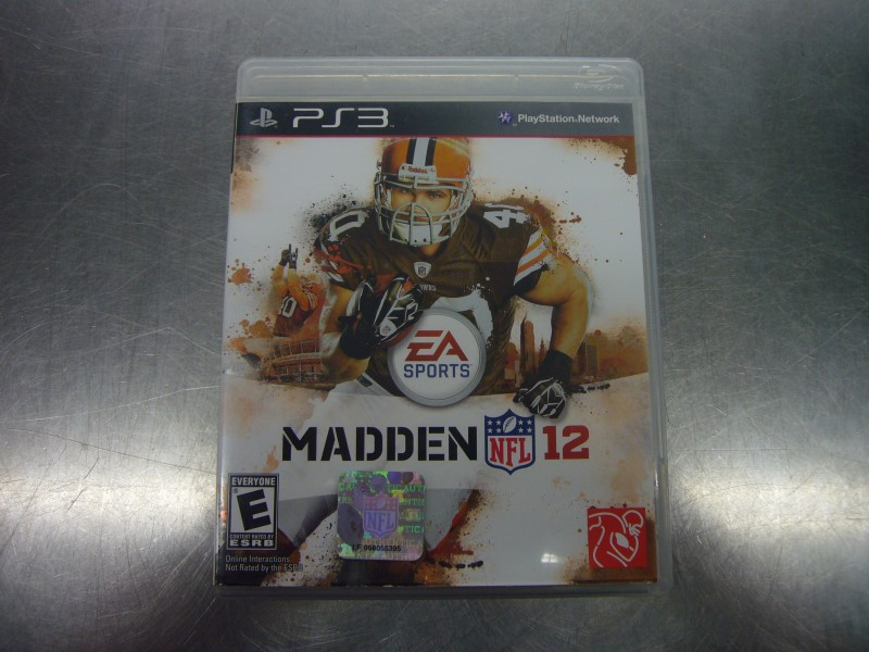 SONY PlayStation 3 Game MADDEN NFL 12
