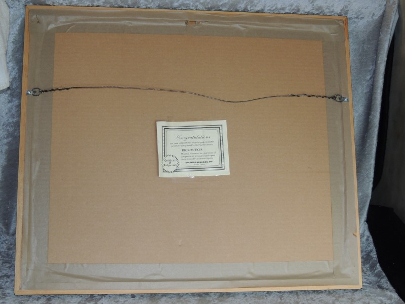 Butkus HOF 1979 Autographed Signed Black White Photo Framed Wrigley COA
