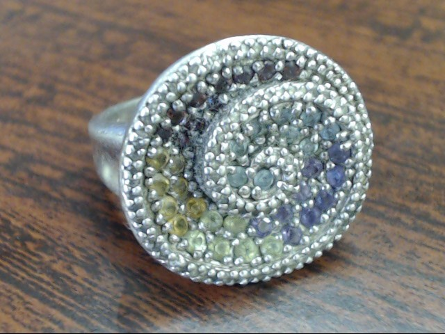 Lady's Silver Ring 925 Silver 8.6g Size:7