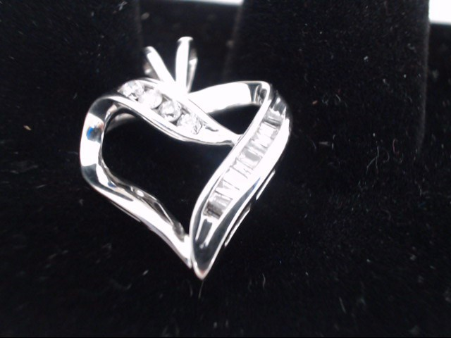 Gold-Multi-Diamond Pendant 15 Diamonds .49 Carat T.W. 10K White Gold 2.4g