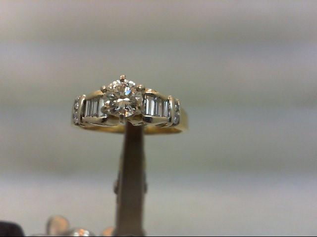 Lady's Diamond Engagement Ring 11 Diamonds 1.00 Carat T.W. 18K 2 Tone Gold