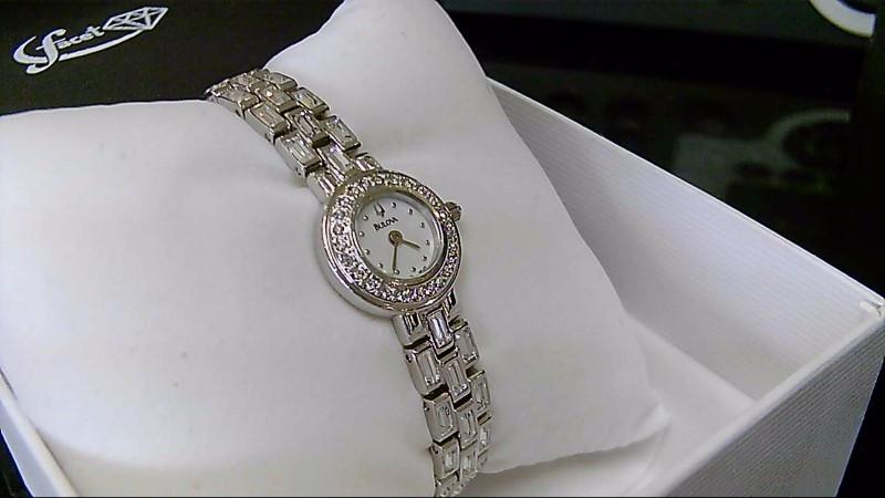 Bulova 96L23 Stainless Steel Swarovski Wrist Watch