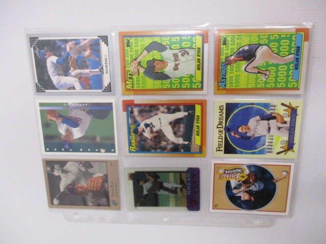 Sports Memorabilia LOT OF 21 NOLAN RYAN BASEBALL CARDS