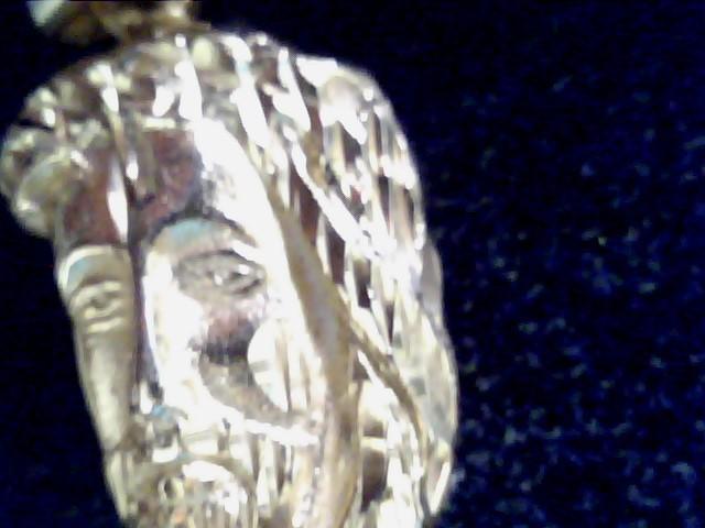 10KT Gold Charm JESUS FACE PARTCAL 14K Yellow Gold 2.1dwt