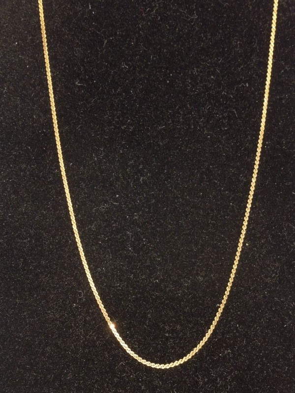 """16"""" Gold Link Chain 14K Yellow Gold 1.3g"""