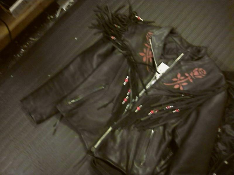 Coat/Jacket LEATHER JACKET-SZ 10 USA