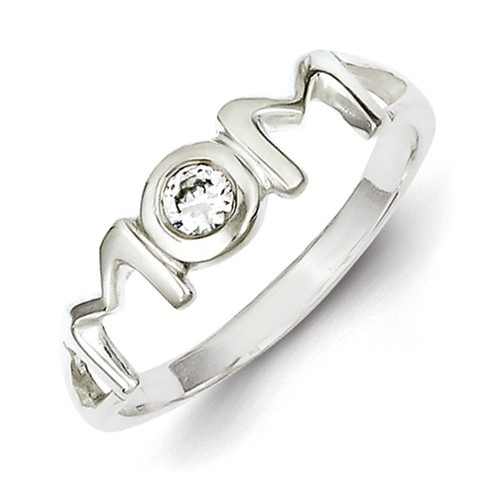 New Mom Ring Sterling Silver Ring 925