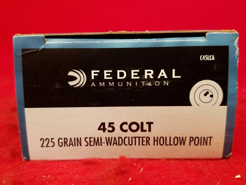 Federal 45 Colt 225gr Semi-Wadcutter Hollow Point - 20 Rounds