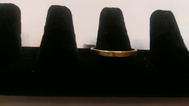 Gent's Gold Wedding Band 14K Yellow Gold 3.6g Size:14