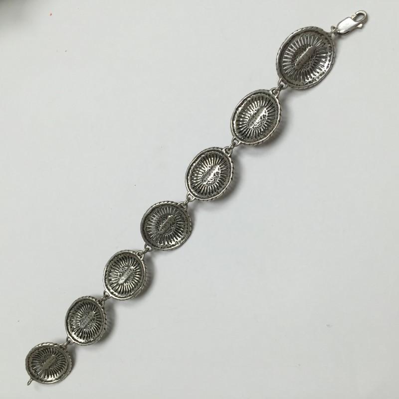 Black Stone Silver-Stone Bracelet 925 Silver 15.7dwt