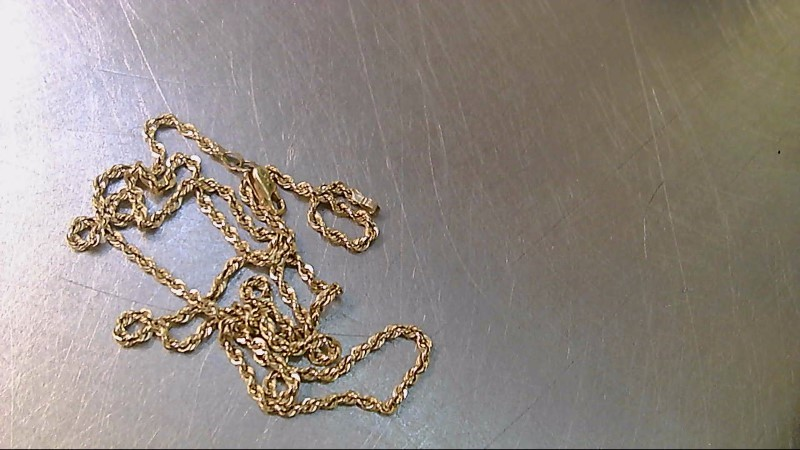 """18"""" Gold Rope Chain 14K Yellow Gold 4.95g"""