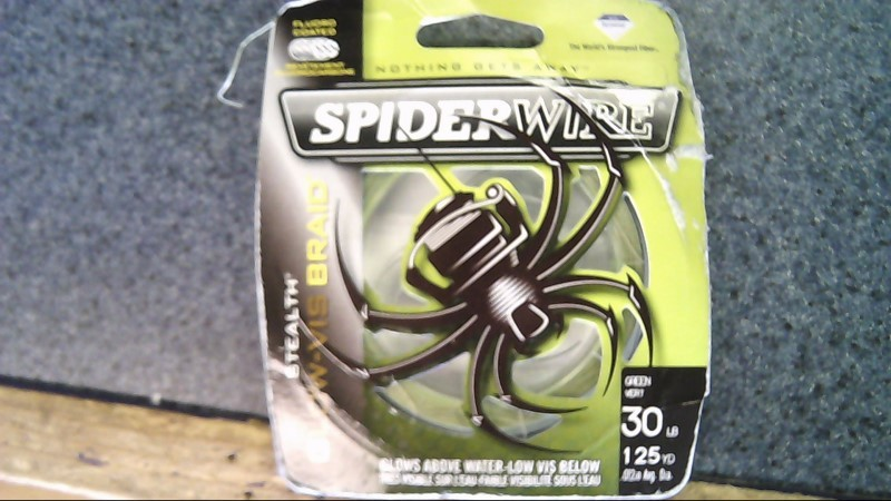 SPIDERWIRE STEALTH GLOW-VIS BRAID 30lb 125yd