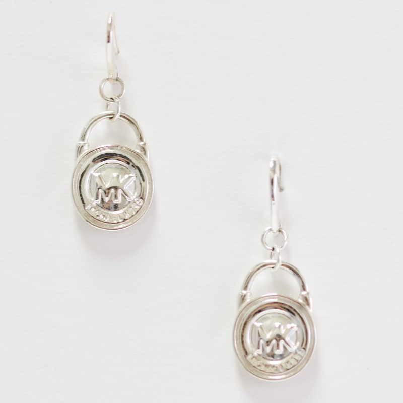 MICHAEL KORS Logo Lock Shaped Mixed Metal Drop Earrings